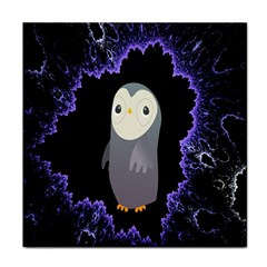 Fractal Image With Penguin Drawing Face Towel