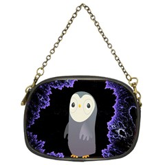 Fractal Image With Penguin Drawing Chain Purses (two Sides)