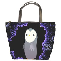 Fractal Image With Penguin Drawing Bucket Bags