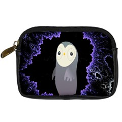 Fractal Image With Penguin Drawing Digital Camera Cases