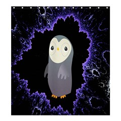 Fractal Image With Penguin Drawing Shower Curtain 66  x 72  (Large)