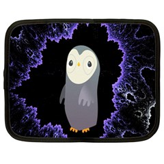 Fractal Image With Penguin Drawing Netbook Case (xl)