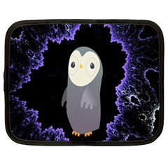 Fractal Image With Penguin Drawing Netbook Case (XXL)