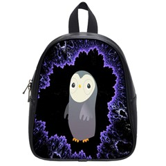 Fractal Image With Penguin Drawing School Bags (Small)
