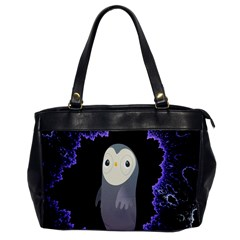 Fractal Image With Penguin Drawing Office Handbags