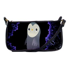 Fractal Image With Penguin Drawing Shoulder Clutch Bags