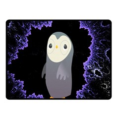 Fractal Image With Penguin Drawing Fleece Blanket (small)