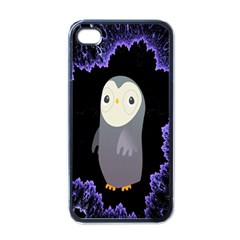 Fractal Image With Penguin Drawing Apple iPhone 4 Case (Black)