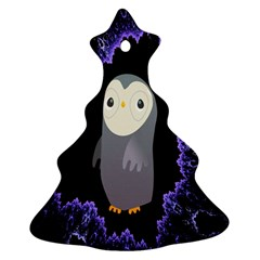 Fractal Image With Penguin Drawing Ornament (Christmas Tree)