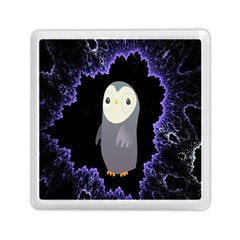 Fractal Image With Penguin Drawing Memory Card Reader (square)