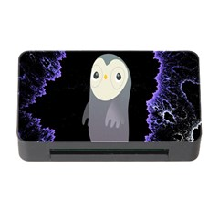 Fractal Image With Penguin Drawing Memory Card Reader with CF