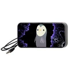 Fractal Image With Penguin Drawing Portable Speaker (Black)