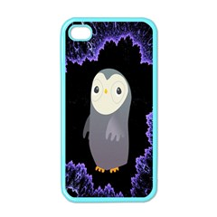Fractal Image With Penguin Drawing Apple iPhone 4 Case (Color)