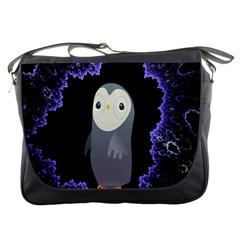 Fractal Image With Penguin Drawing Messenger Bags