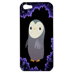 Fractal Image With Penguin Drawing Apple iPhone 5 Hardshell Case