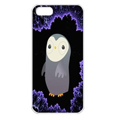Fractal Image With Penguin Drawing Apple Iphone 5 Seamless Case (white)