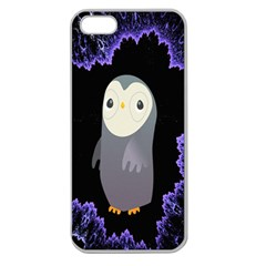 Fractal Image With Penguin Drawing Apple Seamless Iphone 5 Case (clear)