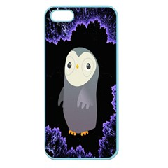 Fractal Image With Penguin Drawing Apple Seamless iPhone 5 Case (Color)