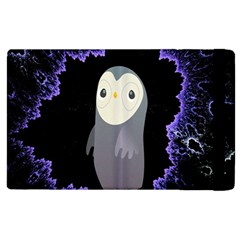Fractal Image With Penguin Drawing Apple Ipad 3/4 Flip Case
