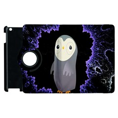 Fractal Image With Penguin Drawing Apple iPad 2 Flip 360 Case