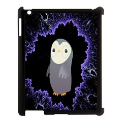 Fractal Image With Penguin Drawing Apple iPad 3/4 Case (Black)