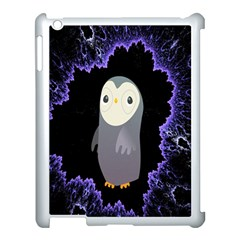 Fractal Image With Penguin Drawing Apple Ipad 3/4 Case (white)