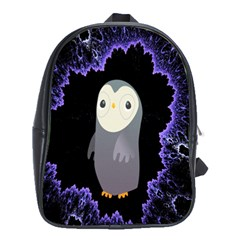 Fractal Image With Penguin Drawing School Bags (XL)