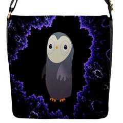 Fractal Image With Penguin Drawing Flap Messenger Bag (s)