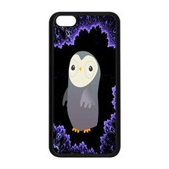 Fractal Image With Penguin Drawing Apple Iphone 5c Seamless Case (black)