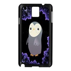 Fractal Image With Penguin Drawing Samsung Galaxy Note 3 N9005 Case (black)
