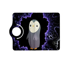 Fractal Image With Penguin Drawing Kindle Fire HD (2013) Flip 360 Case