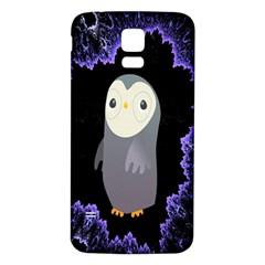 Fractal Image With Penguin Drawing Samsung Galaxy S5 Back Case (White)