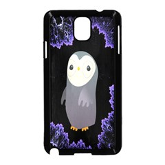 Fractal Image With Penguin Drawing Samsung Galaxy Note 3 Neo Hardshell Case (black)