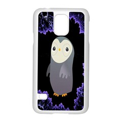 Fractal Image With Penguin Drawing Samsung Galaxy S5 Case (white)
