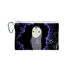 Fractal Image With Penguin Drawing Canvas Cosmetic Bag (S)