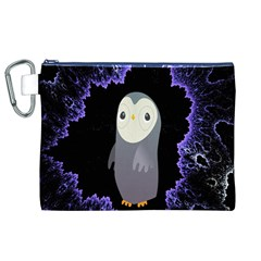 Fractal Image With Penguin Drawing Canvas Cosmetic Bag (XL)
