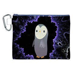 Fractal Image With Penguin Drawing Canvas Cosmetic Bag (XXL)