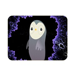 Fractal Image With Penguin Drawing Double Sided Flano Blanket (Mini)