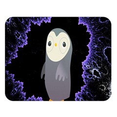 Fractal Image With Penguin Drawing Double Sided Flano Blanket (Large)