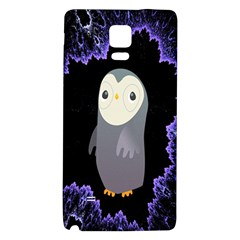 Fractal Image With Penguin Drawing Galaxy Note 4 Back Case