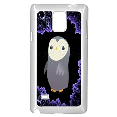 Fractal Image With Penguin Drawing Samsung Galaxy Note 4 Case (White)
