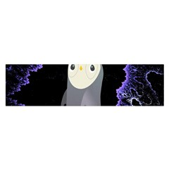 Fractal Image With Penguin Drawing Satin Scarf (Oblong)