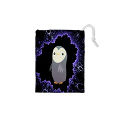 Fractal Image With Penguin Drawing Drawstring Pouches (xs)