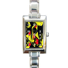 Easy Colors Abstract Pattern Rectangle Italian Charm Watch