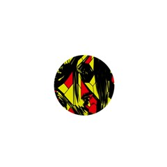 Easy Colors Abstract Pattern 1  Mini Magnets