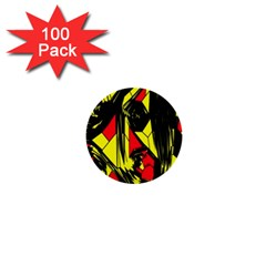 Easy Colors Abstract Pattern 1  Mini Buttons (100 Pack)