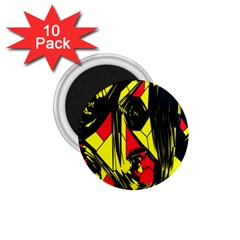 Easy Colors Abstract Pattern 1 75  Magnets (10 Pack)