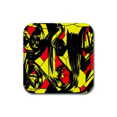 Easy Colors Abstract Pattern Rubber Coaster (square)