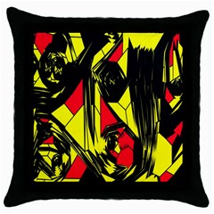 Easy Colors Abstract Pattern Throw Pillow Case (Black)