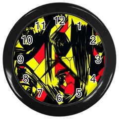 Easy Colors Abstract Pattern Wall Clocks (black)
